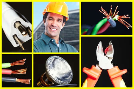 Electrician man. photo