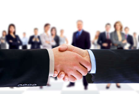 Business people handshake. photo