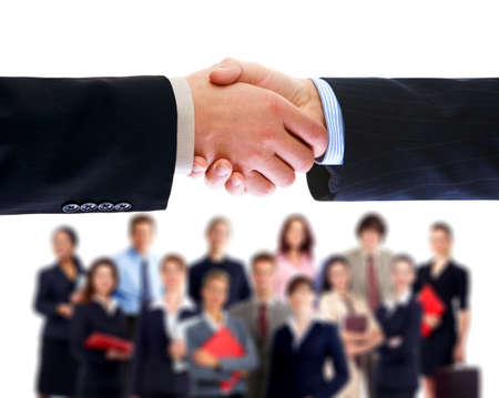 large group of business people: Business people handshake.