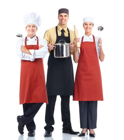 community service: Chef baker group. Stock Photo