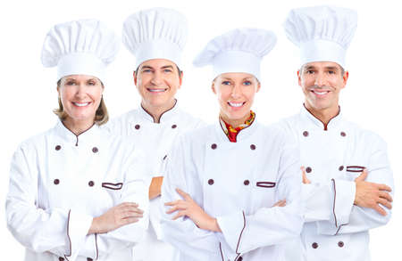 Chef baker group. Stockfoto