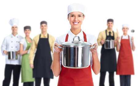 Chef pastelero mujer. photo