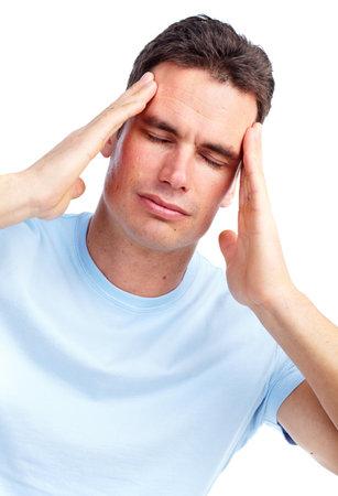 Young man having a headache. Stock Photo - 12379030
