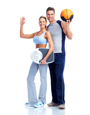 Happy fitness couple. photo