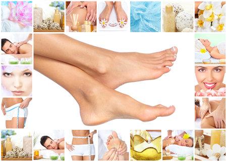 foto: Voeten massage. Stockfoto