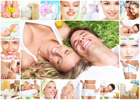 Spa massage collage. Stock Photo - 12379041