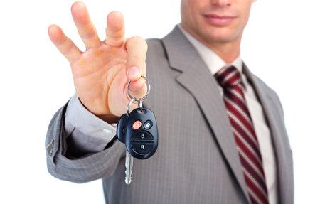 slot met sleuteltje: Auto te drukken.