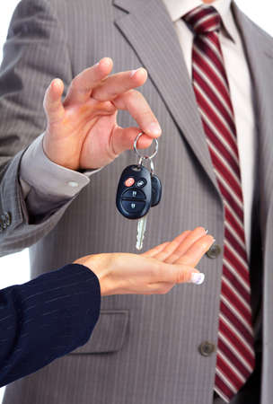 approval button: Car key. Stock Photo