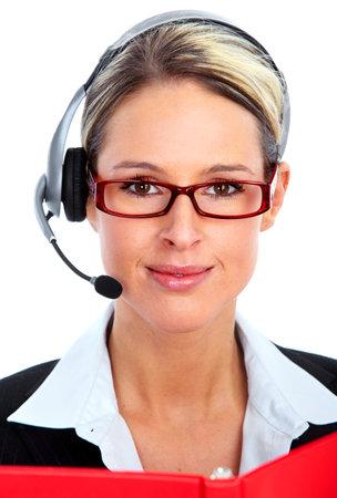 Appelez-opérateur du centre de la clientèle. Banque d'images - 12379220
