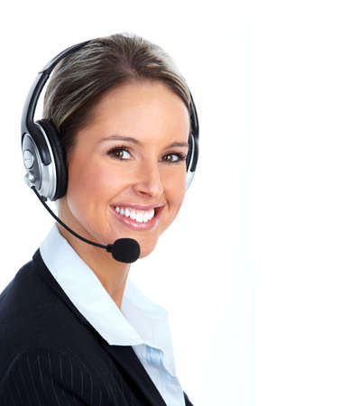 Bellen naar de klantendienst center operator.