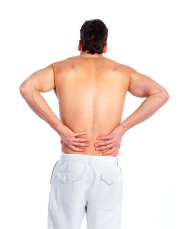 Back pain. photo