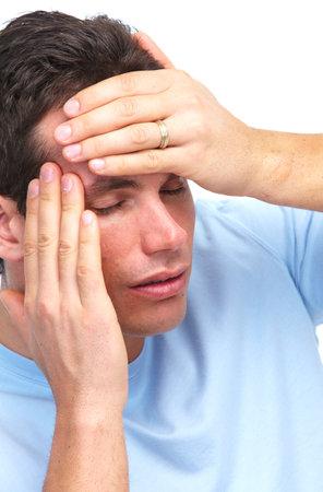 Young man having a headache. Stock Photo - 12379184