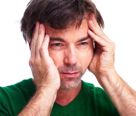Young man having a headache. Stock Photo - 12380335