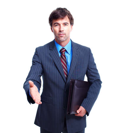 Executive businessman with handshake. photo