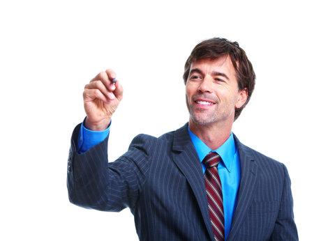 Executive businessman writing. 免版税图像
