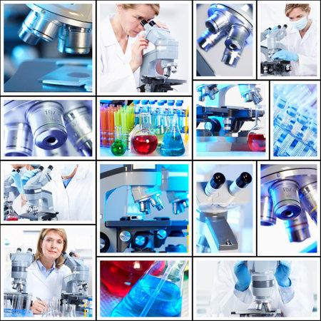 Scientific background collage. Standard-Bild
