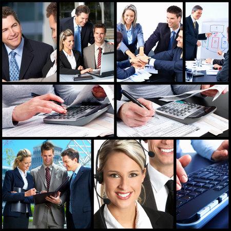 expert comptable: Les gens d'affaires de collage. Banque d'images