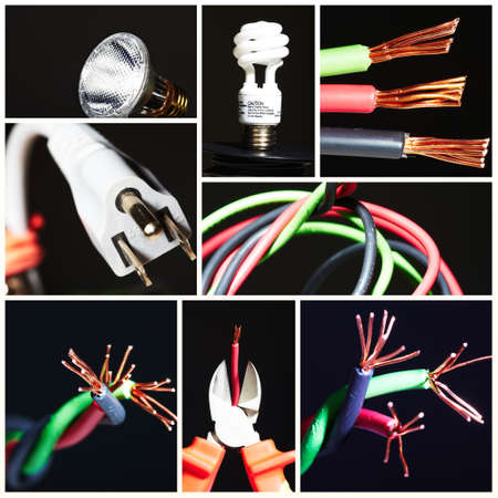 Collage of electrical instruments. Stock Photo - 12380484