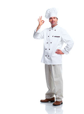 cooking chef: Professional chef man  Stock Photo