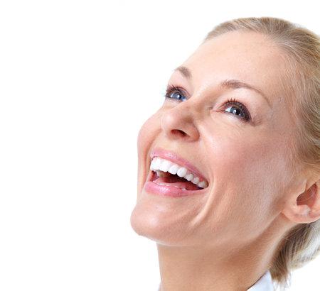 Bonne femme souriante Banque d'images - 12636988