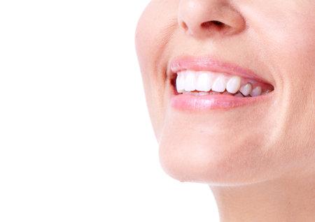 dental smile: Woman smile  Stock Photo