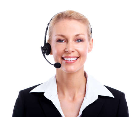 Call center secretary woman