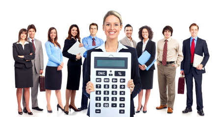 the bookkeeper: Accountant business woman  Stock Photo