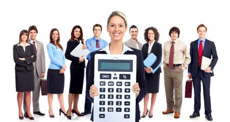 bookkeeping: Contador mujer de negocios Foto de archivo