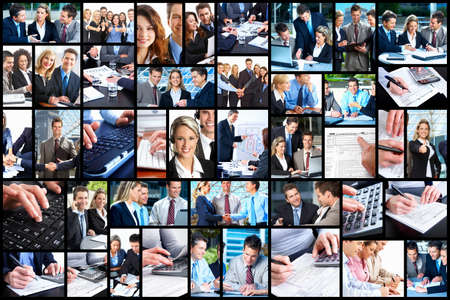 collage people: Business people collage  Stock Photo