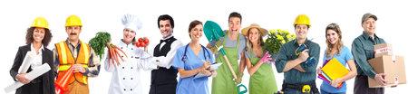 Group of industrial workers people  Imagens