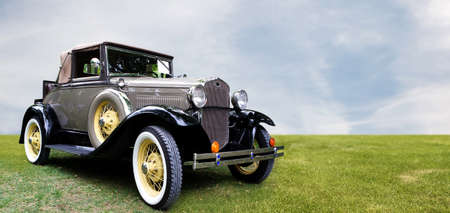 car grill: Retro car