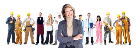 workers group: Group of workers business people  Stock Photo