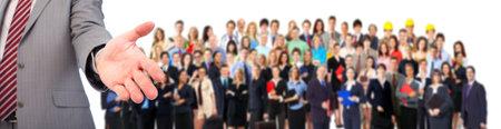 grote groep mensen: Mensen uit het bedrijfsleven handdruk Stockfoto