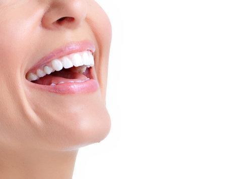 smile teeth: Woman smile  Stock Photo