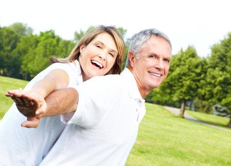 Happy elderly couple  photo