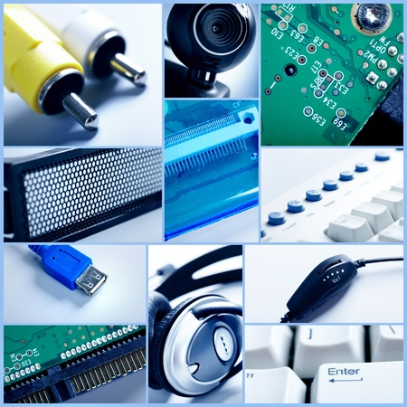 Technology collage  Stock Photo - 12637543