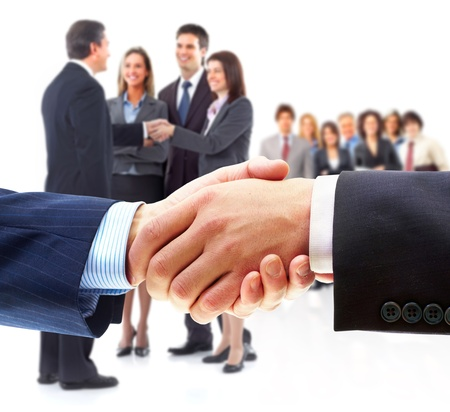 Business people handshake  photo