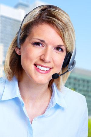 callcenter: Call center operator woman