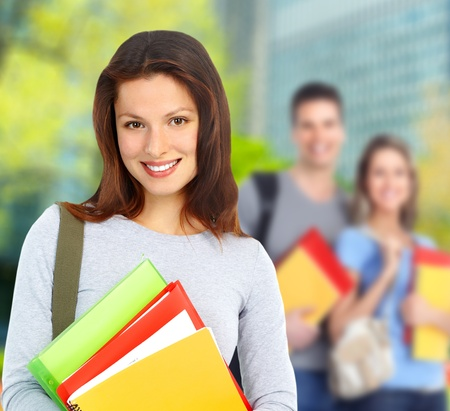 Young student woman Stock Photo - 12927763