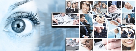 Business people team collage