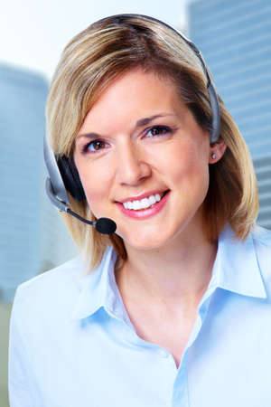 Call center operator woman  photo