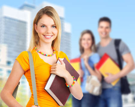 Young student woman  photo