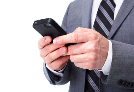 Businessman calling by phone  Stock Photo - 12987986