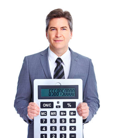 the bookkeeper: Accountant businessman  Stock Photo