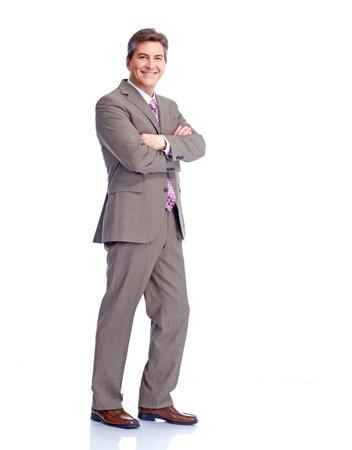 Executive businessman  Isolated on white background  photo