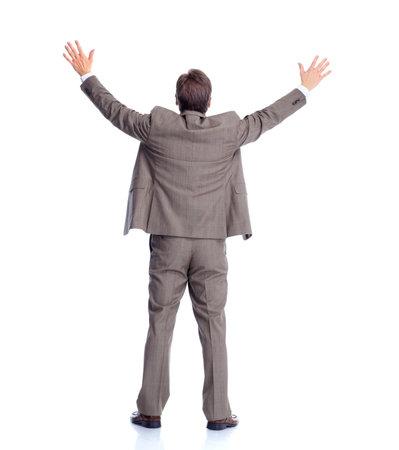 Businessman back  Isolated on white background  photo