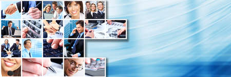 Business team persone collage photo