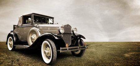 Retro auto Stockfoto