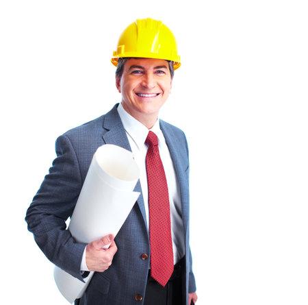 constructeur: Ing�nieur d'affaires Banque d'images