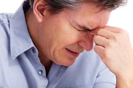 persona deprimida: Hombre que tiene estr�s